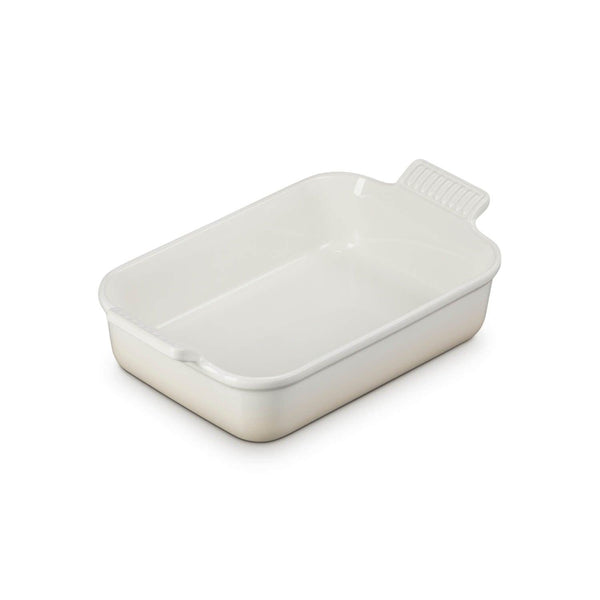Le Creuset Heritage Stoneware Medium Rectangular Deep Dish - Meringue