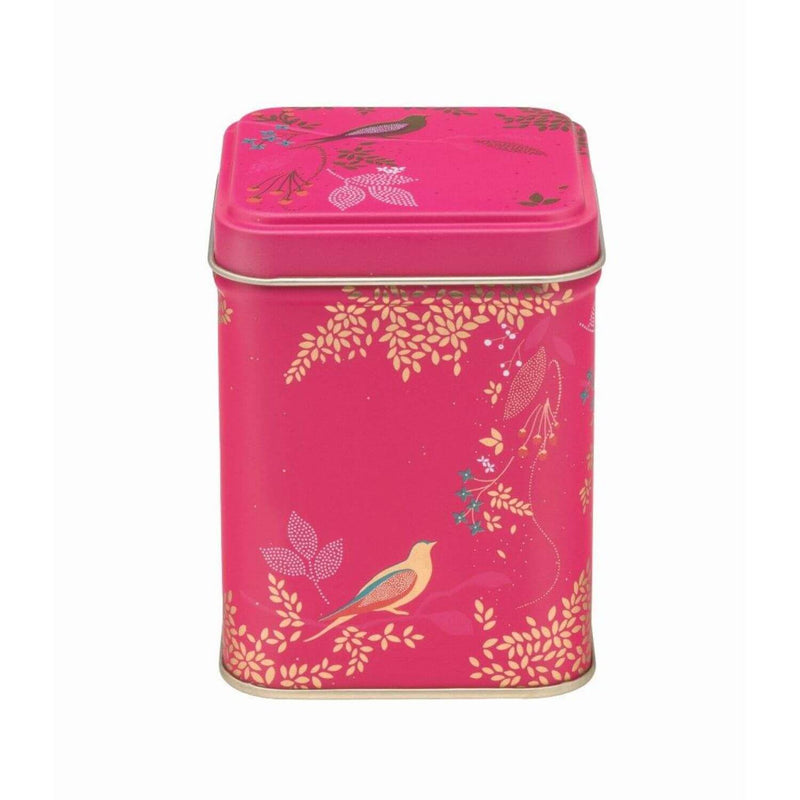 Sara Miller London Square Tin - Pink Birds