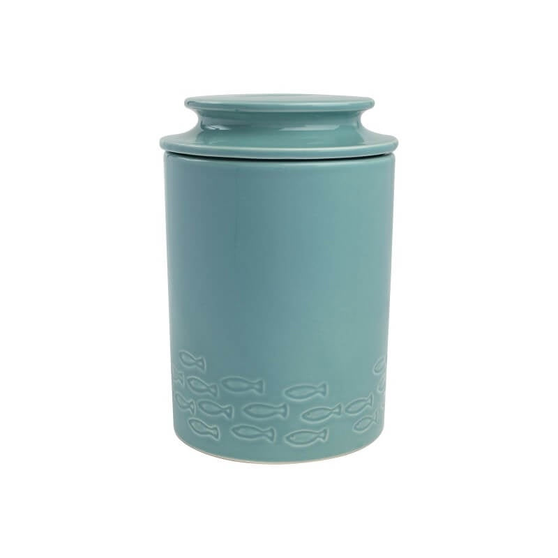 T&G Ocean Fish Ceramic Storage Jar - Blue