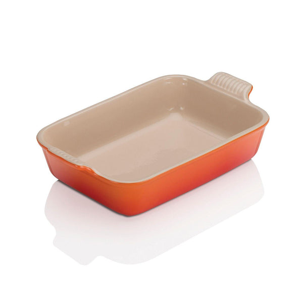 Le Creuset Stoneware Heritage 26cm Rectangle Deep Dish - Volcanic