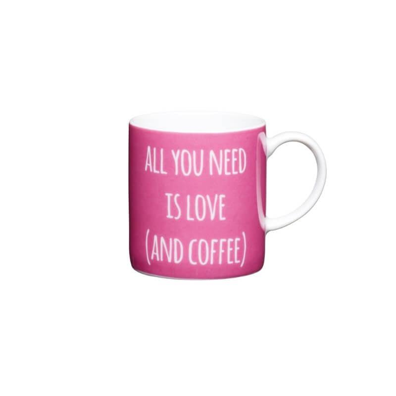 "KitchenCraft Espresso Mug - ""All You Need"""