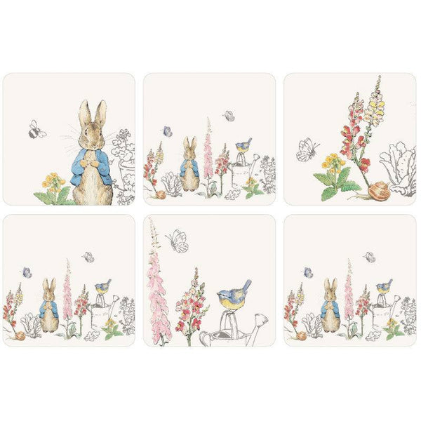 Peter Rabbit Classic Drinks Coasters 6 Set