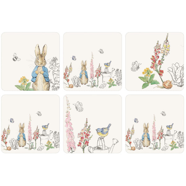 Peter Rabbit Classic Drinks Coasters - Set of 6