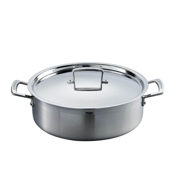 Le Creuset 3 Ply Stainless Steel Sauteuse Pan - 28cm