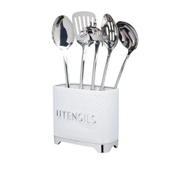 LOVUTENWHT Lovello Textured Ice White Utensil Tin - Main