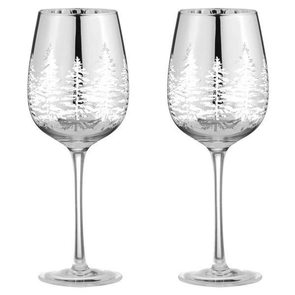Artland Alpine Wine Glasses Silver - Set of 2