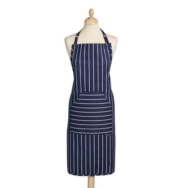 KitchenCraft Cotton Apron - Blue Butcher's Stripe