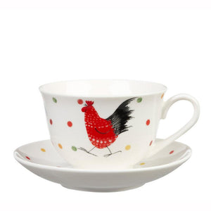 Alex Clark Rooster Tea Cup & Saucer Set