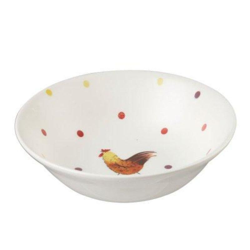 Alex Clark Rooster 15.5cm Oatmeal Bowl