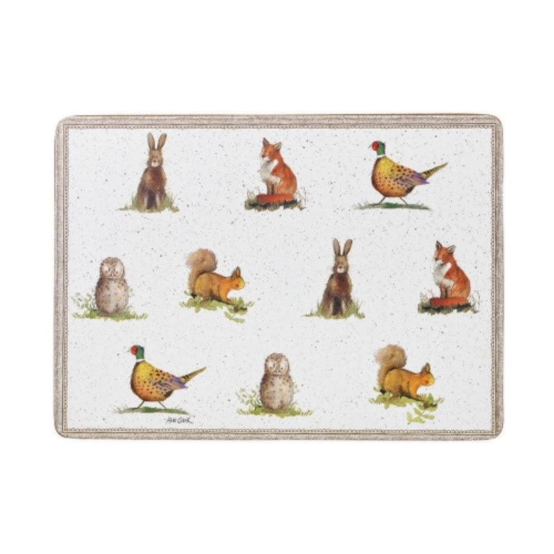 Alex Clark Wildlife Placemats - Set of 6