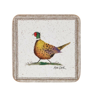 Alex Clark Wildlife Pheasant Coasters - Set of 6
