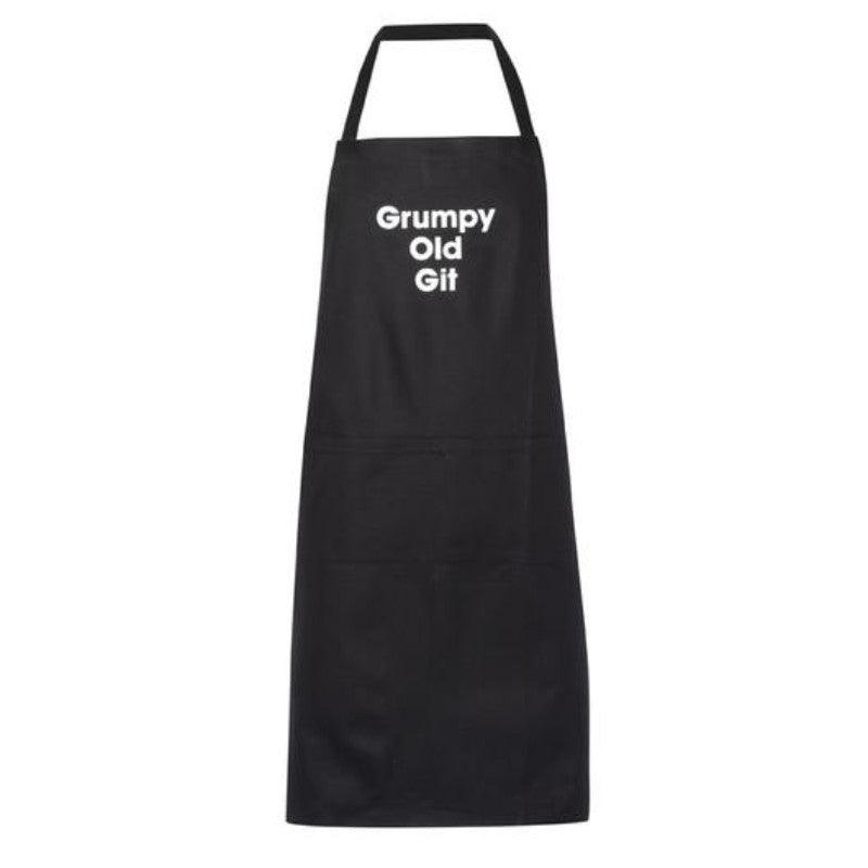 Artscape 'Grumpy Old Git' Black Cotton Apron