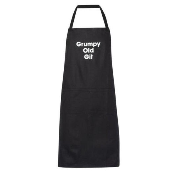 Artscape Black Cotton Apron - 'Grumpy Old Git'