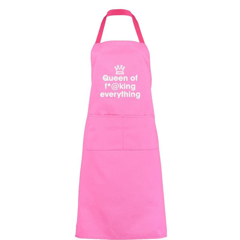 Artscape 'Queen Of F*@king Everything' Pink Cotton Apron