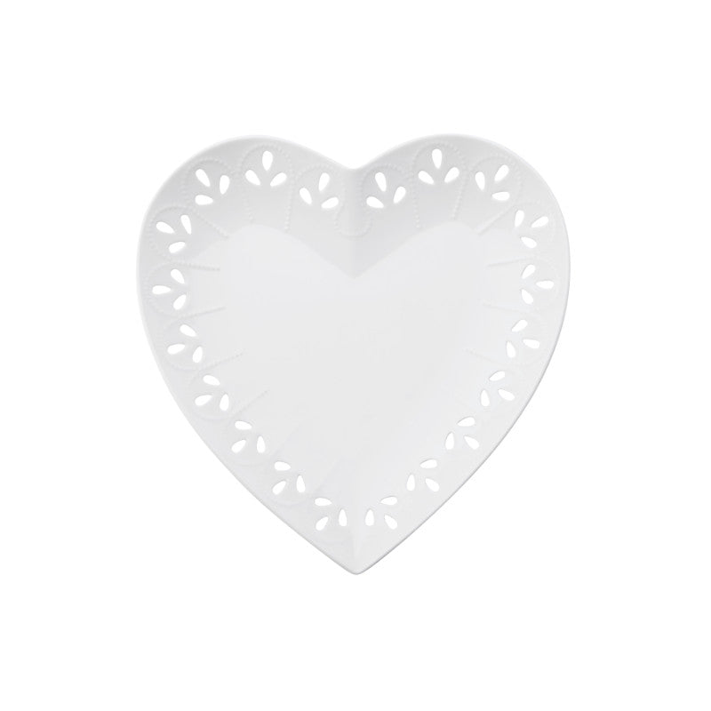 Maxwell & Williams Lille 22cm White Porcelain Heart Plate