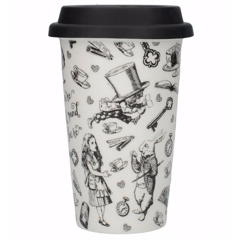 Victoria & Albert Alice in Wonderland 350ml Travel Mug