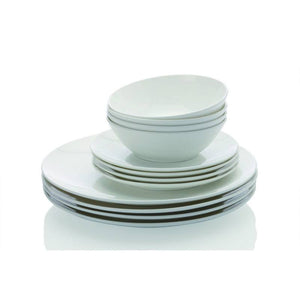 Maxwell & Williams Cashmere 12 Piece White Bone China Coupe Dinner Set
