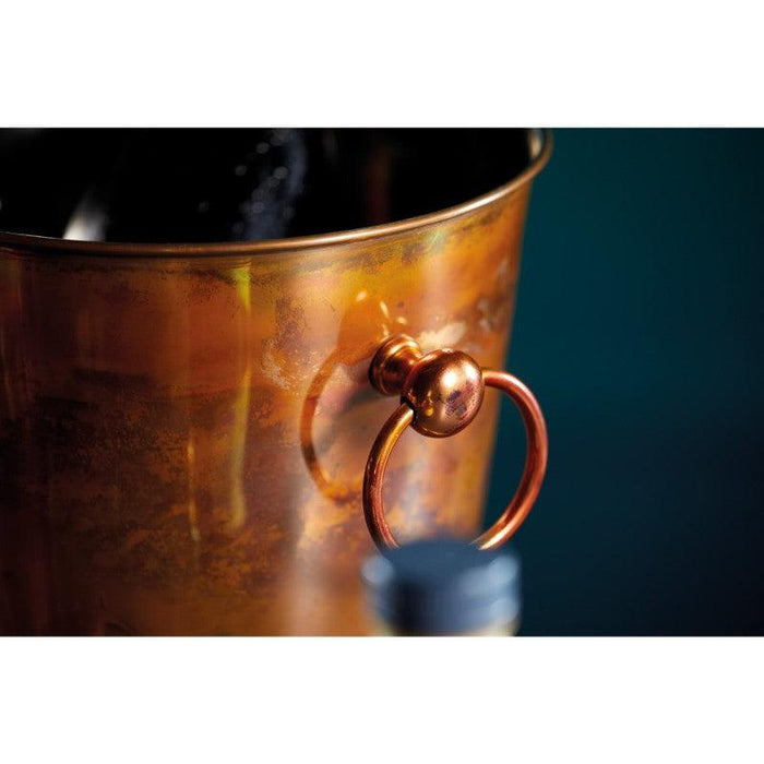 BCCHAMIRIDCOP Barcraft Iridescent Copper Champagne Ice Bucket Close Up