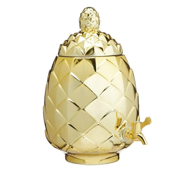 Barcraft Gold Pineapple Drinks Dispenser - 6 Litre