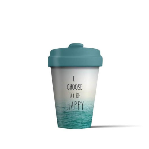 BambooCup 'I Choose To Be Happy' Travel Mug - 400ml