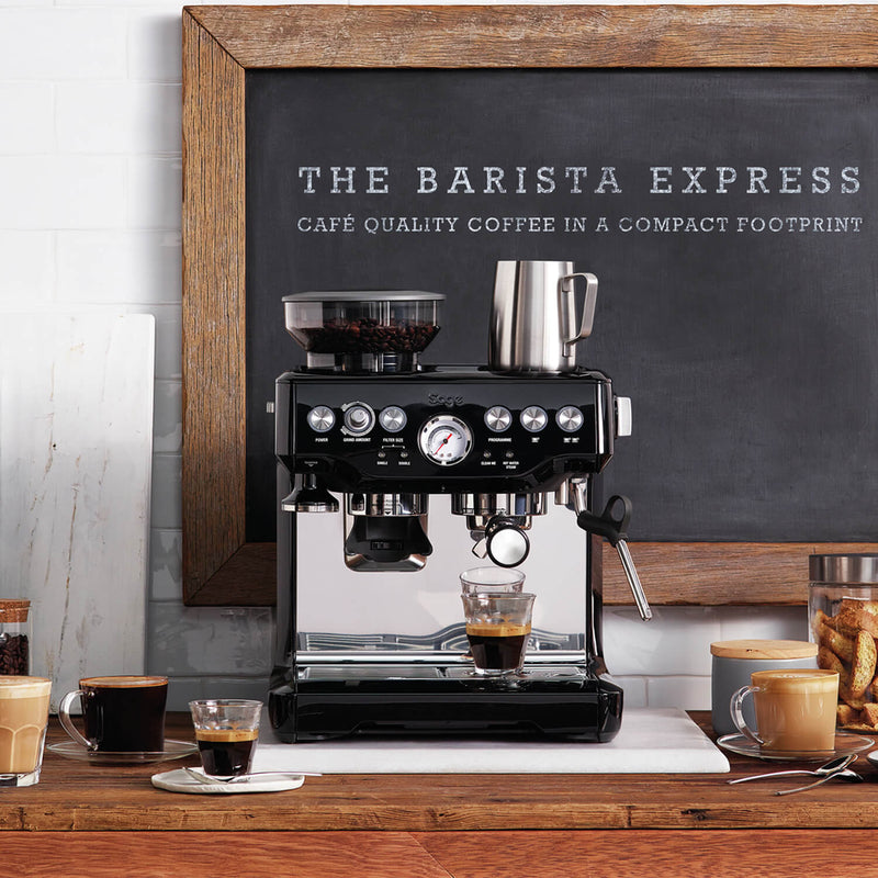 BES875BKS Sage Barista Express Bean-to-Cup Coffee Lifestyle