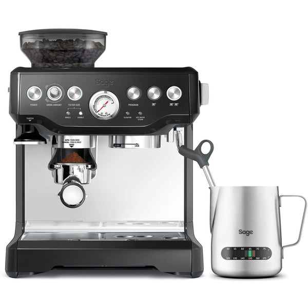 BES875BKS Sage Barista Express Bean-to-Cup Coffee Machine With Temp Control Jug