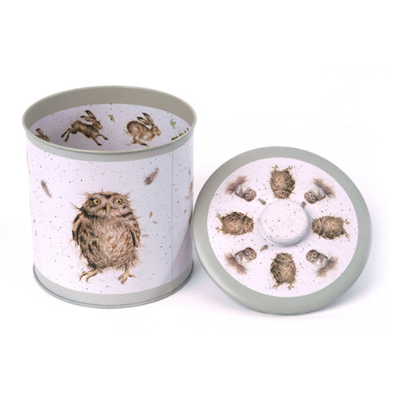 Wrendale Designs Biscuit Barrel Tin - Owl