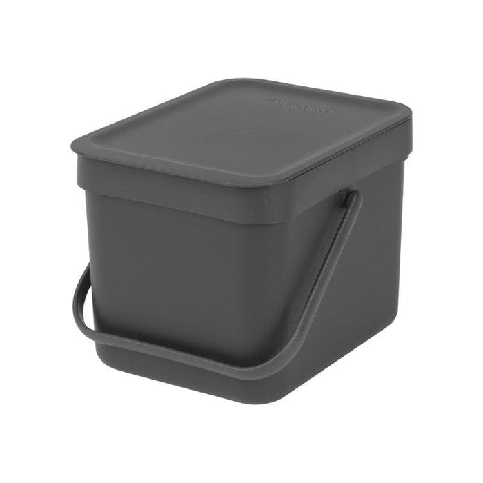 Brabantia Sort & Go 6 Litre Grey Waste Bin