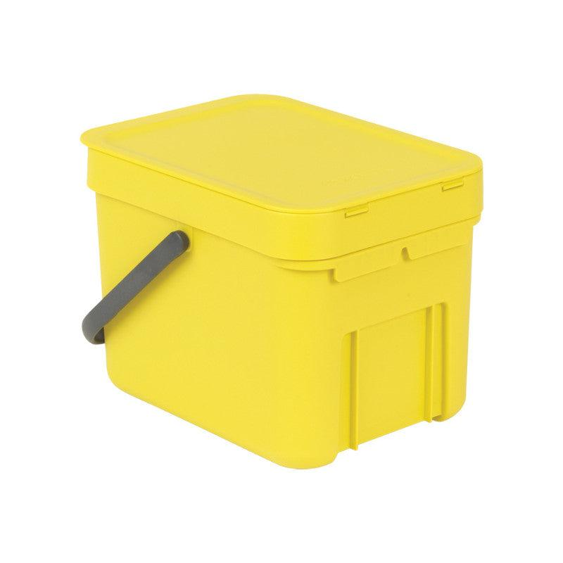 Brabantia Sort & Go 6 Litre Yellow Waste Bin