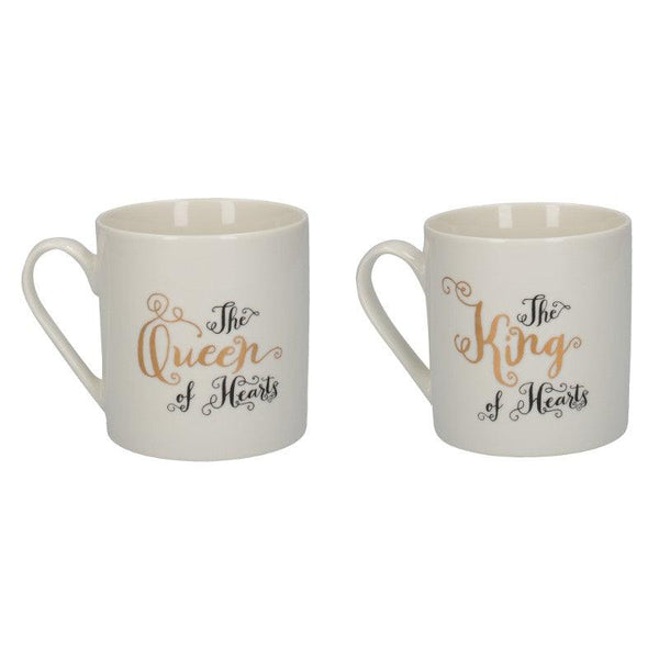 C000047 Victoria And Albert Alice in Wonderland His And Hers Mug Set - Reverse Side Illustrations