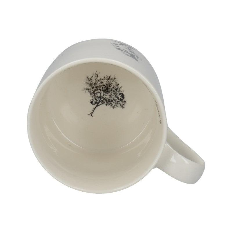 C000050 Victoria And Albert Alice in Wonderland The Spade Gardeners Mug - Rose Tree Illustration On The Base