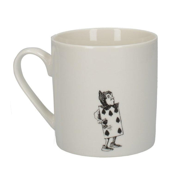 C000050 Victoria And Albert Alice in Wonderland The Spade Gardeners Mug - Reverse Side Illustration