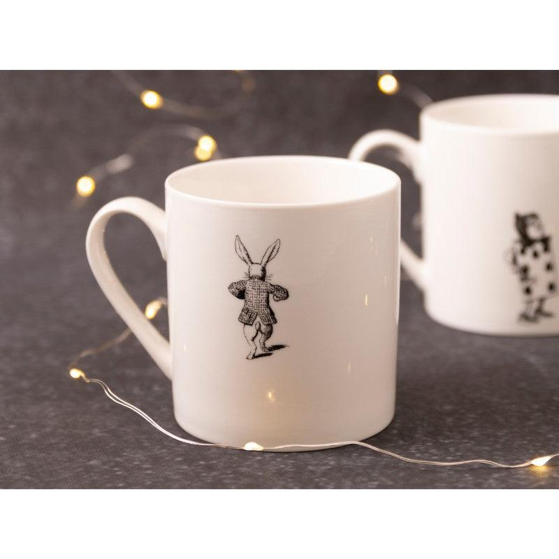 C000051 Victoria & Albert Alice in Wonderland White Rabbit Mug - Lifestyle