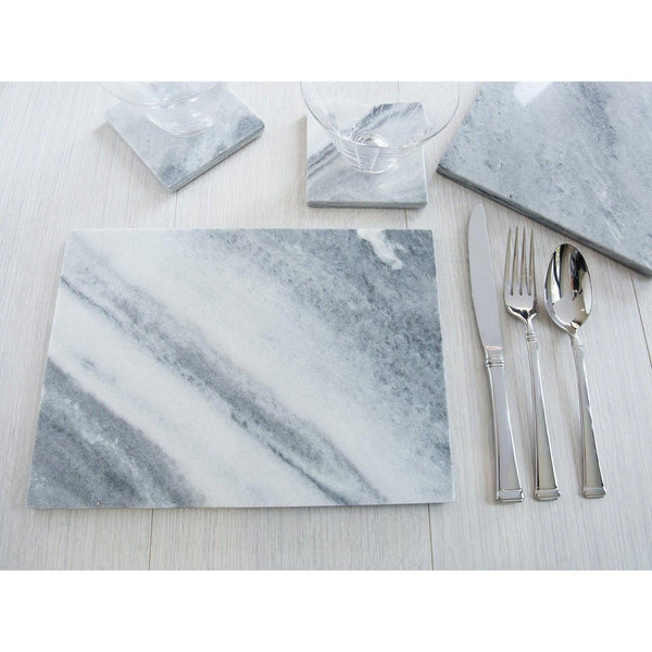 Creative Tops Naturals 2 Piece Rectangle Placemat Set - Marble