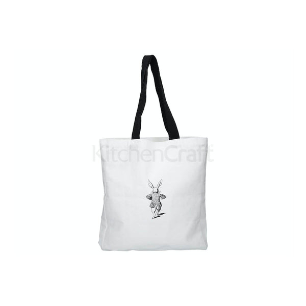 Victoria & Albert Alice in Wonderland Shopping Bag - White Rabbit