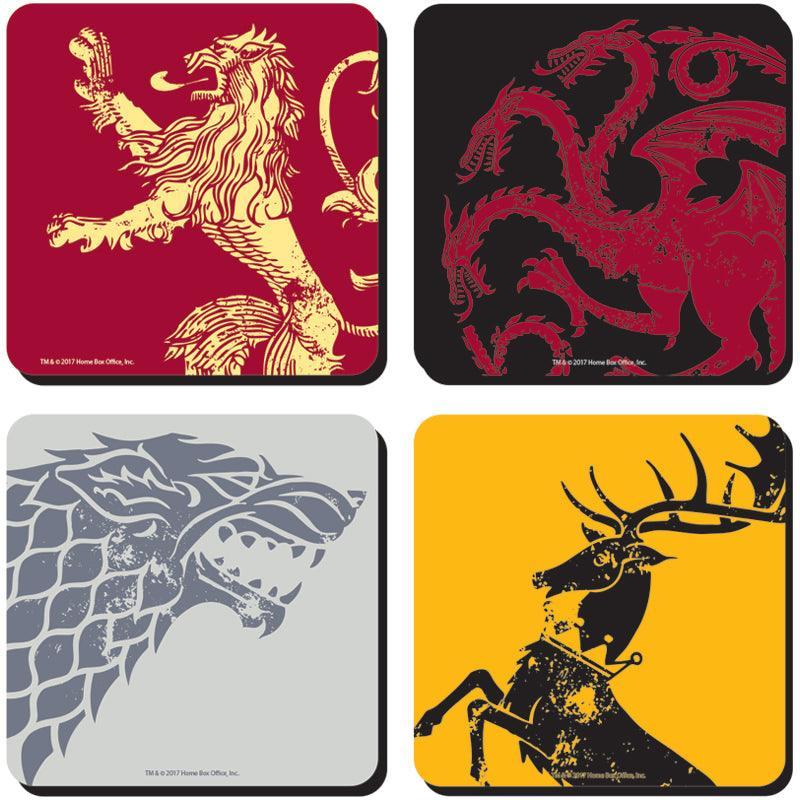 Game of Thrones All Sigils Coasters - Set of 4