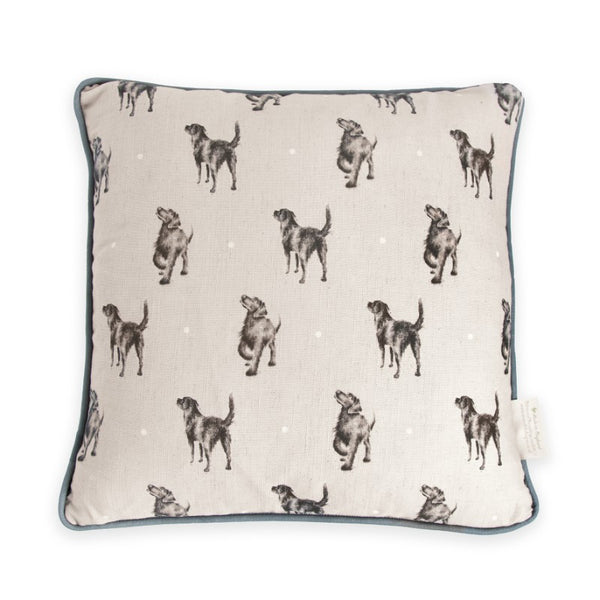 Wrendale Designs Cushion - Black Labrador
