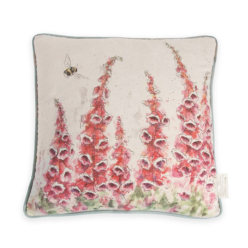 Wrendale Designs by Hannah Dale Cushion - Foxgloves