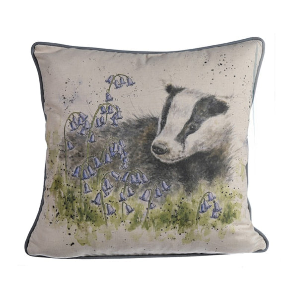 Wrendale Designs Cushion - Badger