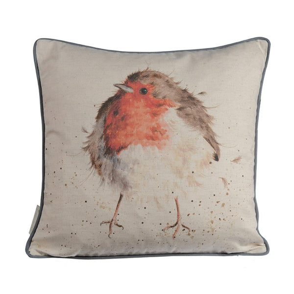 Wrendale Designs Cushion - Jolly Robin