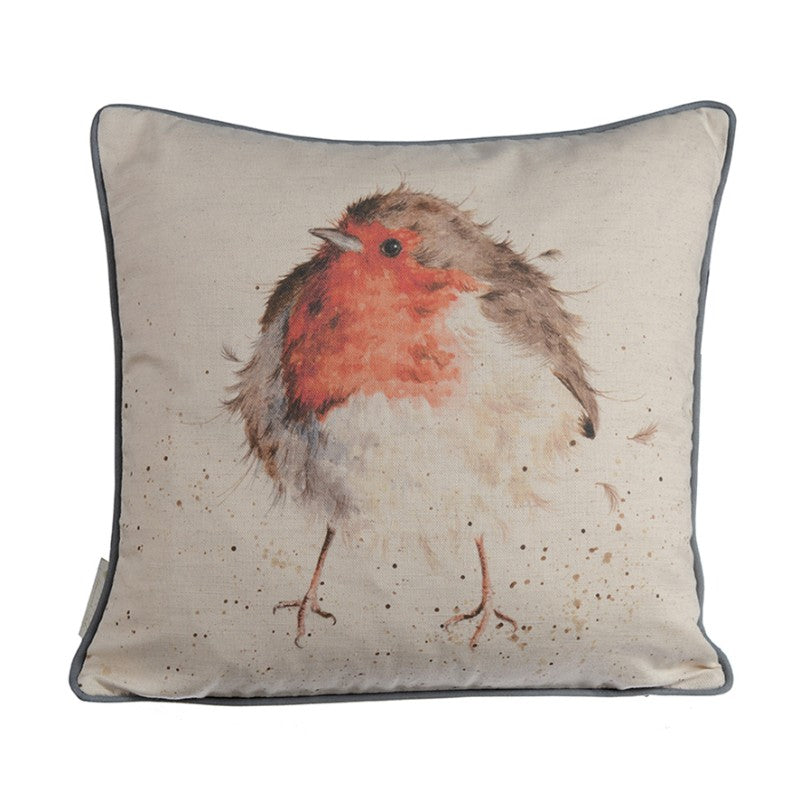 Wrendale Designs by Hannah Dale Cushion - The Jolly Robin