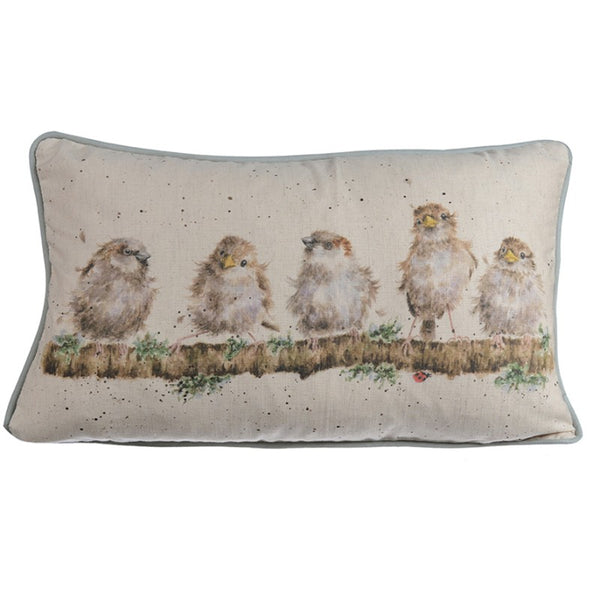 Wrendale Designs Cushion - Chirpy Chaps