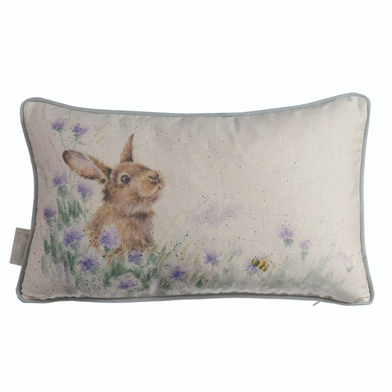 Wrendale Designs by Hannah Dale Cushion - Meadow Rabbit