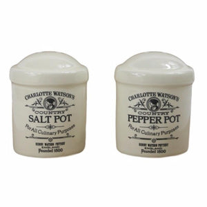 Charlotte Watson Cream Salt & Pepper Shakers