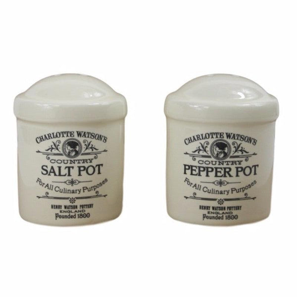 Charlotte Watson Salt & Pepper Shakers - Cream