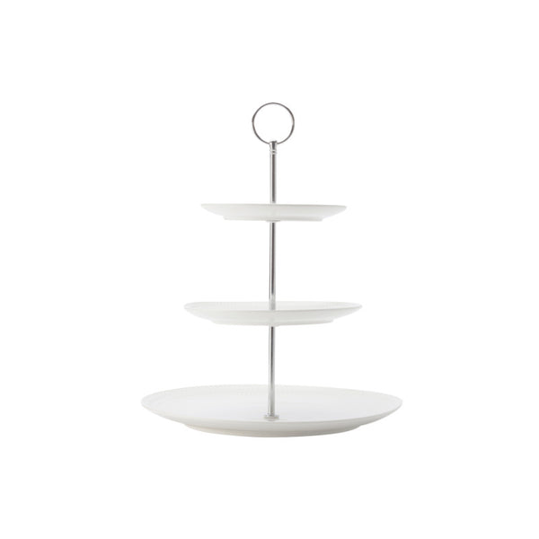Maxwell & Williams White Basics Diamonds Cake Stand - 3 Tier