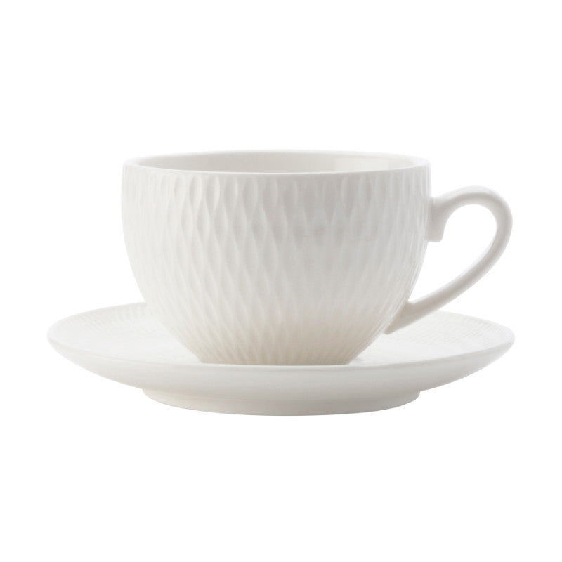 Maxwell & Williams White Basics Diamonds Demi Cup & Saucer