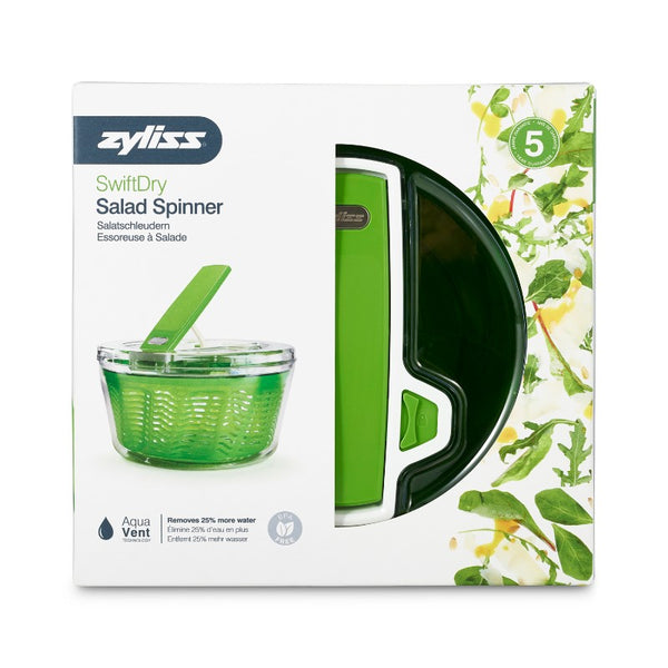 Zyliss Swift Large Dry Salad Spinner - Boxed