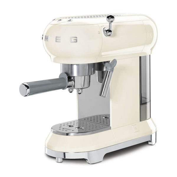 Smeg ECF01CR Espresso Coffee Machine - Cream