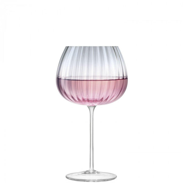 LSA Dusk Pink & Grey Balloon Goblet - Set of 2